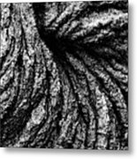 Lava Patterns - Bw Metal Print