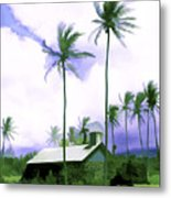 Lava Rock Church Metal Print