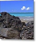 Lava Rocks At Haena Beach Metal Print