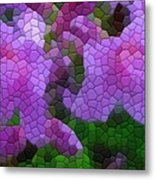 Lavender Azaleas Metal Print