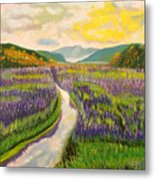 Lavender Brook Metal Print