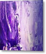Lavender Cascades In The Purple Mountains Metal Print