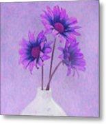Lavender Chrysanthemum Still Life Metal Print