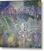 Lavender Fairies Metal Print