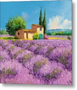 Lavender Fields In Provence Metal Print