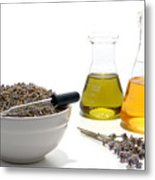 Lavender Flower Aromatherapy Scent Manufacturing Process Metal Print