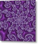 Lavender Fractal  Metal Print