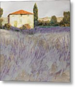 Lavender Metal Print by Guido Borelli