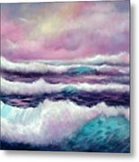 Lavender Sea Metal Print