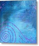 Lavender Spiral  Metal Print