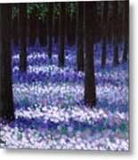 Lavender Woodland Metal Print