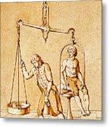 Lavoisiers Respiration Experiments Metal Print