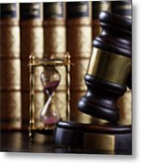Law And Justice  Metal Print
