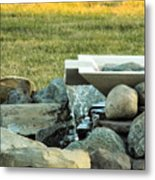 Lawn Water Feature Metal Print