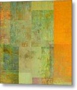 Layer Study - Turquoise Metal Print