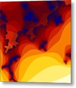 Layered Gells Metal Print