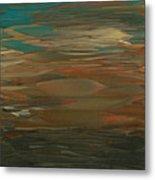 Layered Teal Sunset Metal Print