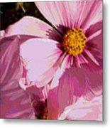 Layers Of Pink Cosmos - Digital Art Metal Print