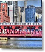 Layers On The River Metal Print