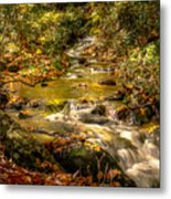 Lazy Mountain Water Fall Metal Print