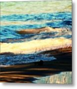 Lazy Waves Metal Print