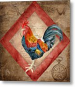 Le Coq - Timeless Rooster  Metal Print