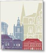 Le Havre Skyline Poster Metal Print