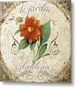 Le Jardin Dahlias Metal Print