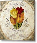 Le Jardin Tulipes Metal Print
