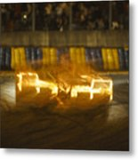 Le Mans On Fire Metal Print