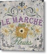 Le Marche Aux Fleurs 1 Metal Print