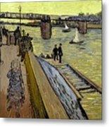 Le Pont De Trinquetaille In Arles Metal Print by Vincent Van Gogh