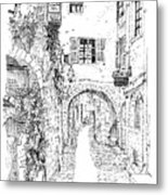 Le Pontis Saint-paul De Vence France Metal Print