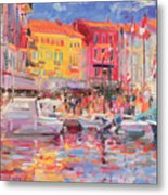 Le Port De St Tropez Metal Print by Peter Graham