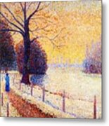 Le Puy In The Snow 1889 Metal Print