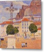 Le Puy The Sunny Plaza 1890 Metal Print