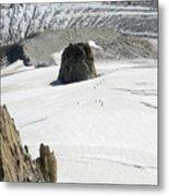 Le Rognon Glacier D'argentiere Vue Depuis L'aiguille Des Grands Montets Argentiere Haute Savoie Metal Print
