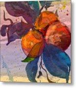 Le Temps Des Oranges Metal Print