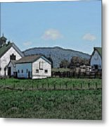 Lea Homestead Metal Print by DigiArt Diaries by Vicky B Fuller