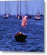 Leader Of The Pack- Bristol Rhode Island Oil Effect Metal Print