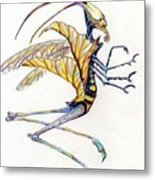 Leaf Hopper Metal Print