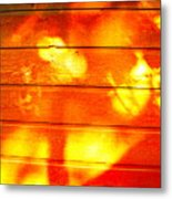 Leafy Sunlit Abstract Metal Print