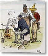 League Of Nations Cartoon Metal Print by Granger