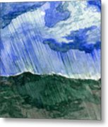 Leaking Sky Metal Print