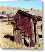 Leaning Bodie Outhouse Metal Print