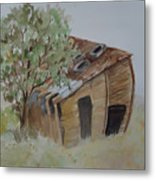 Leaning Esclante Shed Metal Print