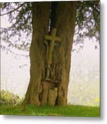 Leaning On The Cross Of Jesus Metal Print