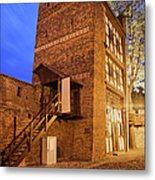 Leaning Tower By Night In Torun Metal Print
