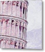 Leaning Tower Of Pisa - 03 Metal Print