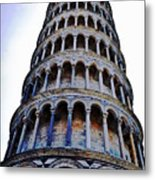 Leaning Tower Of Pisa In Tuscany, Italy Metal Print